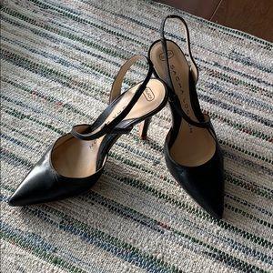 Sacha London Black slingback  heels